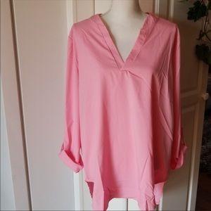 3/$10 - Tunic style pink blouse